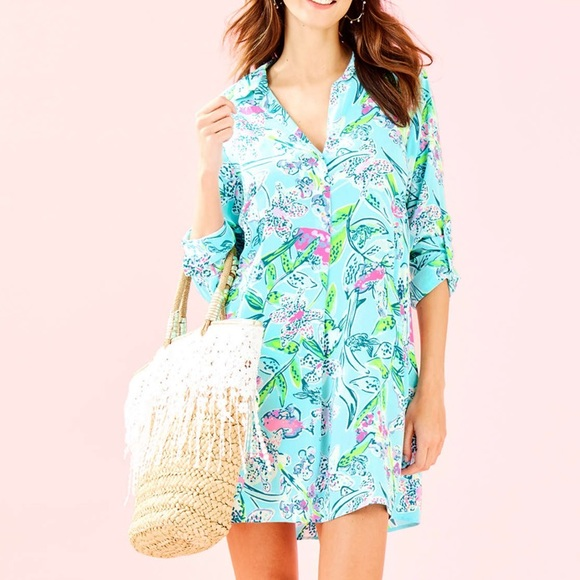 Lilly Pulitzer NWT Lillith Tunic Dress Bali Blue Sway This Way $148
